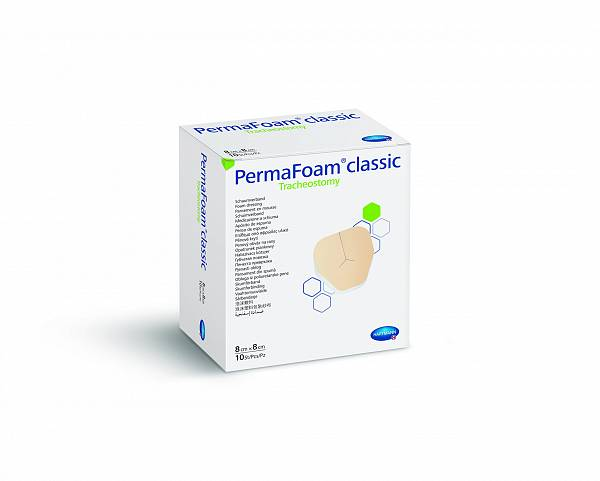 PermaFoam classic Tracheostomy 8 x 8 cm
